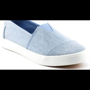 Denim slide in sneaker
